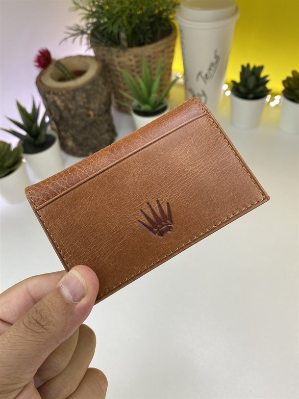 RENZO BROWN GENUINE LEATHER CARD HOLDER
