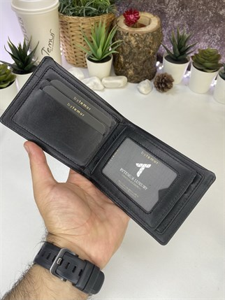 ASHA BLACK GENUINE LEATHER WALLET