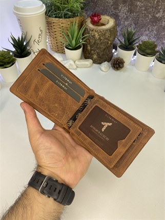 ASHA CRAZY BROWN GENUINE LEATHER WALLET