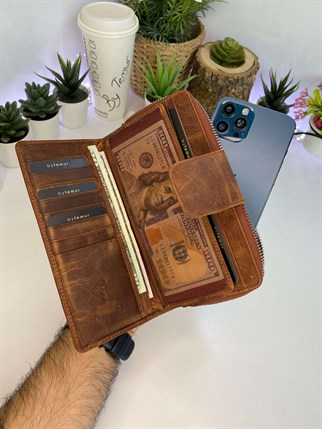 EDWARD BROWN GENUINE LEATHER PHONE WALLET