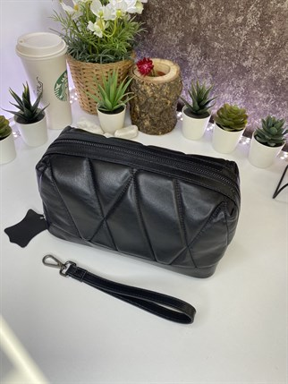 IDA BLACK GENUINE LEATHER  HANDBAG